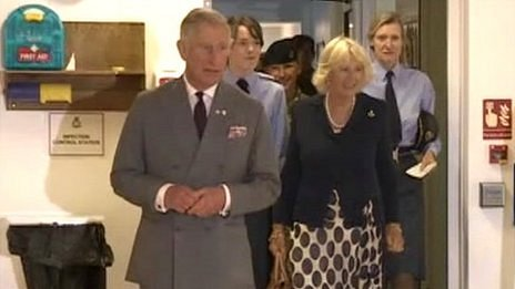 Prince Charles and Camilla at Headley Court