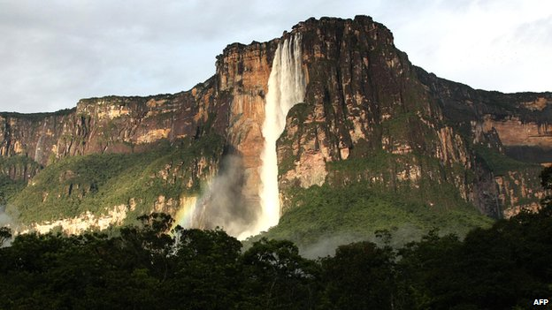 Angel Falls waterfalls - the world's tallest - near Canaima, in Venezuela