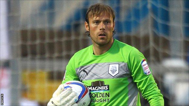 Preston North End goalkeeper Steve Simonsen