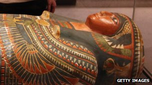 Egyptian mummy in the Ashmolean Museum