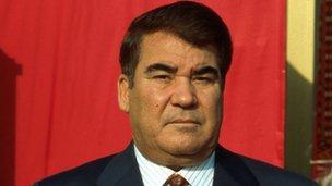 President Niyazov of Turkmenistan