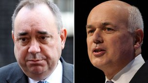 Alex Salmond and Iain Duncan Smith