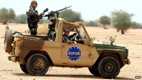 EU troops in Chad. File photo