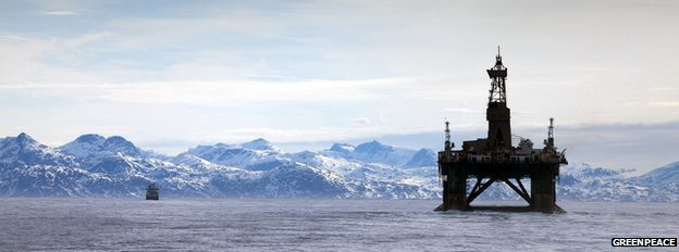 Arctic oil rig  Greenpeace