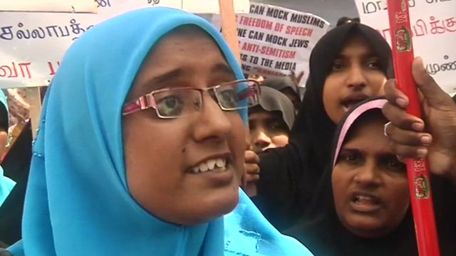 Anti-Islam film protest in Sri Lanka