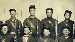 Civil War soldiers in Union uniform