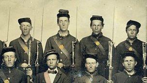 Civil War soldiers in Union uniform