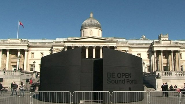 BE OPEN Sound Portal in Trafalgar Square