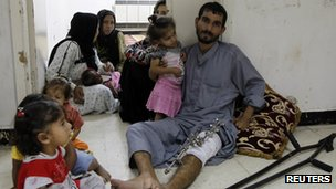 Displaced Syrians living in a police hospital at the Dumaa area Damascus, September 16 2012