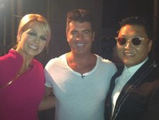 Britney Spears, Simon Cowell and Psy