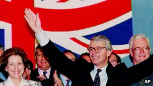John Major at the 1993 Conservative Party conference