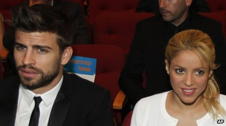 Gerard Pique and Shakira