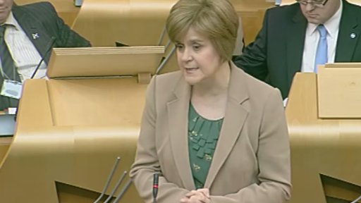 Infrastructure, Investment and Cities Secretary Nicola Sturgeon