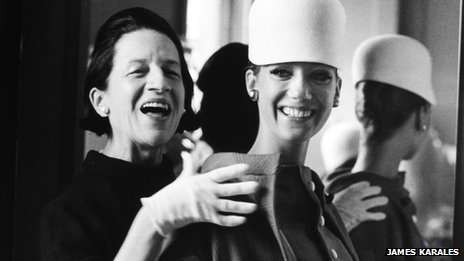 Diana Vreeland and model Marisa Berenson