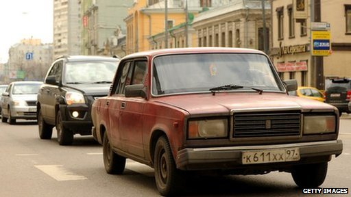 A Lada VAZ-2107, known as the Lada Classic