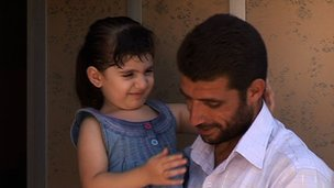 Ahmed Atrash and his daughter