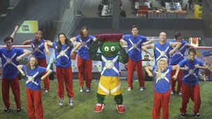 Clyde mascot at launch