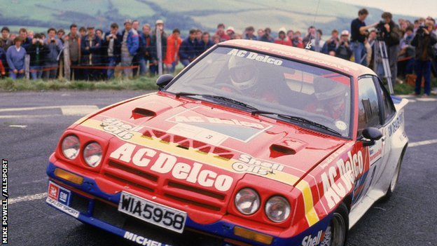1984: Jimmy McRae and Mike Nicholson of Great Britain in action during the Manx International Rally in the Isle of Man, Great Britain. \ Mandatory Credit: Mike Powell /Allsport