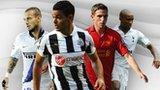 Wesley Sneijder, Hatem Ben Arfa, Joe Allen and Jermain Defoe