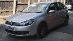 Silver Volkswagen Golf