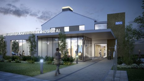 Artist&#039;s impression of Bicester Community Hospital