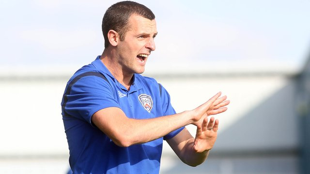 Oran Kearney's Coleraine prepare for a derby clash against Ballymena United