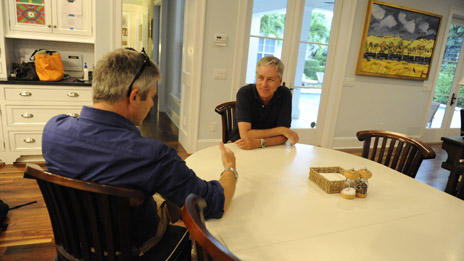 Justin Webb and Carl Hiaasen