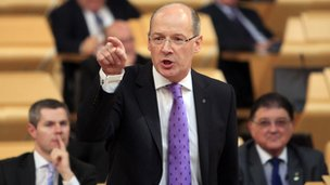 John Swinney in the Scottish Parliament