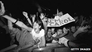 Fans at a Duran Duran concert in 1983