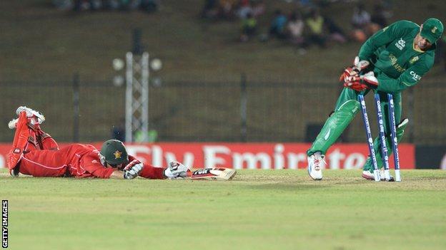 Craig Ervine and AB de Villiers