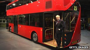 Boris Johnson on bus