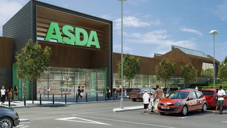 Artist&#039;s impression of the Asda store in Norwich