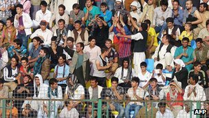 Crowd at Afghan football match