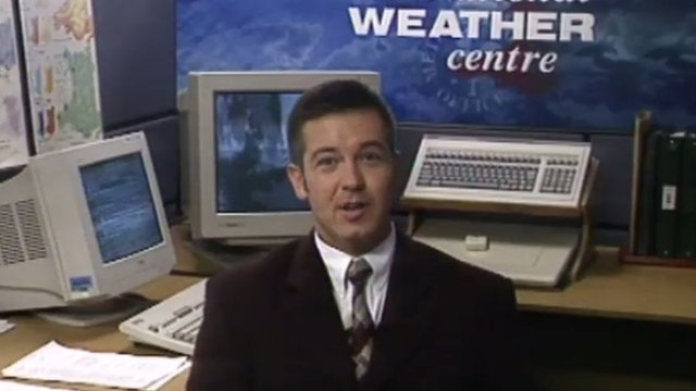 Derek Brockway's first broadcast on Wales Today