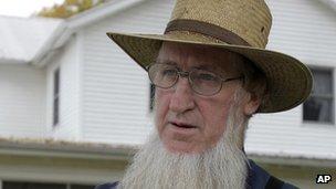 Amish breakaway group leader Samuel Mullet Sr file picture