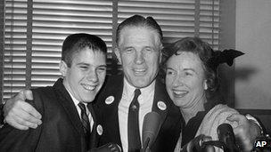 Mitt, George and Lenore Romney in 1962