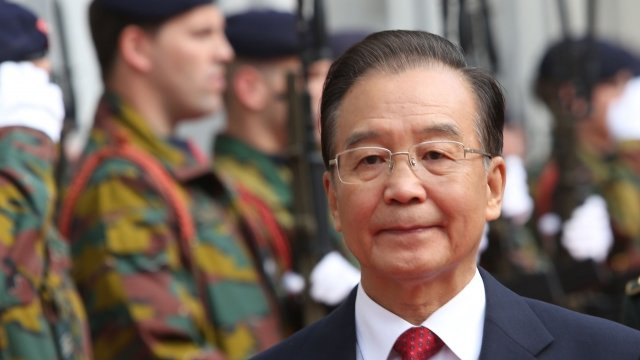 Wen Jiabao in Brussels