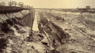 Excavation of Manchester Ship Canal, circa 1890