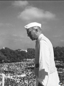 Prime Minister of India Pandit Jawaharlal Nehru in New Delhi on 17th August 1947, just days after Indian Independence.