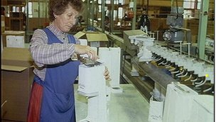 A SodaStream factory in the 1980s