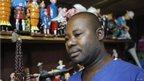 Tintin artisan Auguy Kakese in Kinshasa, DR Congo