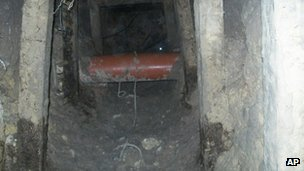 The tunnel under the prison facility in Piedras Negras