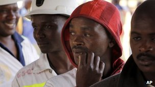 South African miners (file photo)