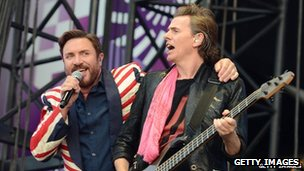 Simon Le Bon and John Taylor