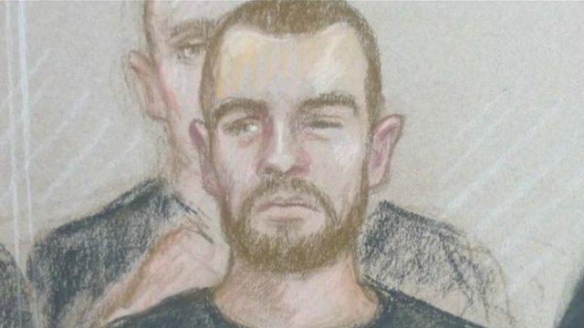 Court sketch of Dale Cregan