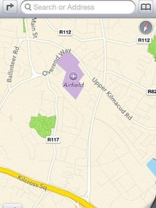 Apple map mix-up locates Dublin Airport on a farm