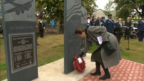 Princess Anne at the memorial