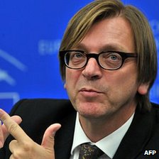 Guy Verhofstadt, Liberal Democrat leader, European Parliament