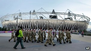Military personnel at the Olympics