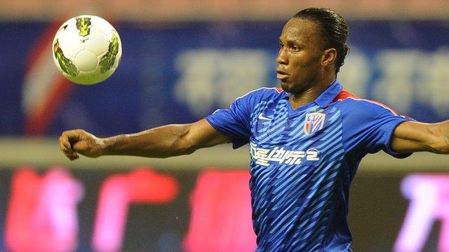 Former Chelsea striker Didier Drogba, now of Shanghai Shenhua